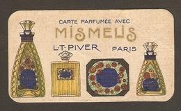 CARTE PARFUMEE MISMELIS LT PIVER PARIS - SALON Du SQUARE LAFFON AVENUE De La GARE LAMALOU Les BAINS - Cartes Parfumées