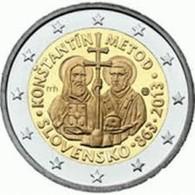 Slovakije 2013   2 Euro Commemo   Constantin De Methode     UNC Uit De Rol  UNC Du Rouleaux  !! - Slovakia