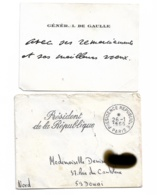 Général De Gaulle Sur Cdv Adressé à DOUAI  1966 - Autographes
