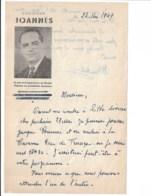 HYPNOSE   JOANNES    Lettre 1949 - Programme