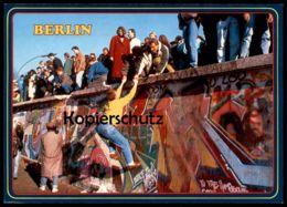 ÄLTERE POSTKARTE BERLIN BERLINER MAUER 1989 MAUERFALL GRENZÖFFNUNG LE MUR THE WALL Ansichtskarte Postcard - Muro Di Berlino