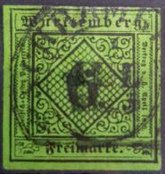 WÜRTTEMBERG 1851 - Canceled - Mi 3 - 6k - Wuerttemberg