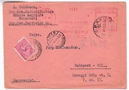 K167 Romania Red Meter Freistempel EMA 1948 BUCURESTI 162 - Otros