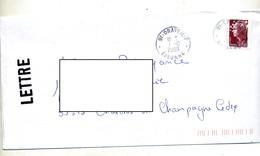 Lettre Cachet Villiers Le Bel + Flamme Chiffree Deux Dates - Postmark Collection (Covers)