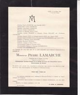 LIEGE Automobiles IMPERIA Administrateur Directeur Pierre LAMARCHE  48 Ans 1944 Faire-part Mortuaire Déchirure En Haut - Décès
