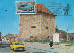 81487-CLUJ NAPOCA TAYLOR'S BASTION, DACIA 1300 CAR, TRANSPORTS, MAXIMUM CARD, 1978, ROMANIA - Voitures