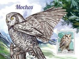 Guinea-Bissau, 2015. [gb15203] Birds, Owls (s\s+block) - Owls