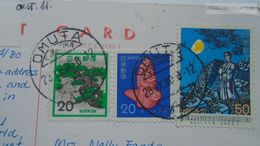 D166816 Stamps On Postcard Japan - Cancel Omuta  1980 - 1926-89 Imperatore Hirohito (Periodo Showa)