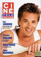 Ciné Télé Revue Juin 87 8726 Don Johson Stallone Poster Madonna Bardot Joan Collins Nielsen - Cinema