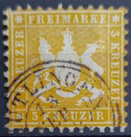 WÜRTTEMBERG 1862 - Canceled - Mi 22 - 3k - Wuerttemberg