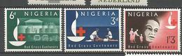 NIGERIA CROIX ROUGE  N° 143 à 145 NEUF** LUXE SANS CHARNIERE /MNH - Nigeria (1961-...)