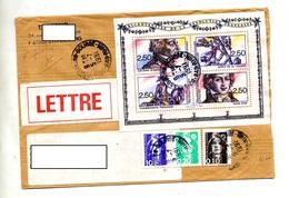 Lettre  Cachet Strasbourg Sur Bloc Revolution - Postmark Collection (Covers)