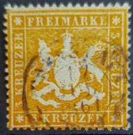 WÜRTTEMBERG 1860 - Canceled - Mi 17 - 3k - Wuerttemberg