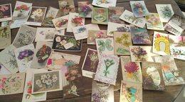 Lot De 45 Cartes Postales. Fleurs. - Cartes Postales