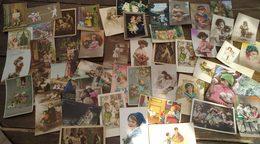 Lot De 47 Cartes Postales. Enfants. - Cartes Postales
