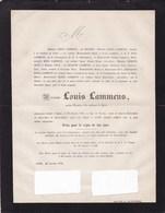GAND GENT Louis LAMMENS Ancien Notaire 75 Ans 1870 Famille MULDER NEVE Distribution De Pains Aux Pauvres - Décès