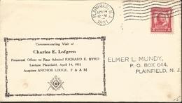 J) 1931 UNITED STATES, MASONIC GRAND LODGE, CHARLES E LOFGREN, FDC - United States