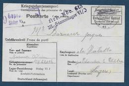 Carte D'un Prisonnier De Guerre  Au Camp De KREFELD FICHTENHAIN - Poststempel (Briefe)