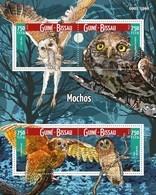 Guinea-Bissau, 2015. [gb15710] Birds, Owls (s\s+block) - Owls