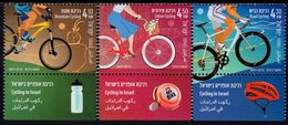 Israel - 2019 - Cycling In Israel - Mint Stamp Set With Tabs - Unused Stamps (with Tabs)