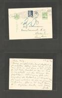 ROMANIA. 1931 (30 Oct) Bucarest - Austria, Wien (3 Nov 31) Ovptd 8 June 1930. 2 Lei Green Stat Card + Taxed + Austrian P - Zonder Classificatie