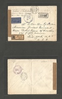 AUSTRIA - XX. 1947 (10 Dec) Wien - USA, NYC (24-26 Dic) Registered Air Cash Paid Postal Rate Env + Alliend Censored. 4,8 - Zonder Classificatie