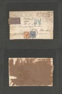 """GERMANY. 1900 (12 August) Friedrichroda - Netherlands, Utrecht. Registered Insured """"Nachnahme - Reimboursement"""" Multifkd - Ohne Zuordnung"""