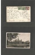 CAMBODIA. 1937 (3 Feb) Siemmrap - Angkor - USA, Chicago, Ill. Multifkd Ppc + Slogan Box Cachet Reverse. Fine. - Kambodscha