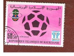 MAURITANIA -  SG 565  -  1977 WORLD CUP FOOTBALL: SOCCER BALL   -  USED° - Mauritania (1960-...)