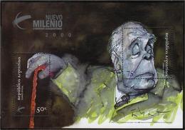 Argentina - 1999 - Écrivain Argentin - José Luis Borges. - Hojas Bloque