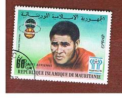 MAURITANIA -  SG 566  -  1977 WORLD CUP FOOTBALL: EUSEBIO FERREIRA  -  USED° - Mauritania (1960-...)
