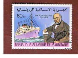 "MAURITANIA -  SG 617  -  1979 SIR R. HILL CENTENARY: STEAMER ""STIRLING CASTEL""  -  USED° - Mauritania (1960-...)"