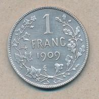 België/Belgique 1 Fr Leopold II 1909 Fr Morin 200a (89375) - 07. 1 Franc
