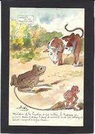 CPA Bobb Satirique Caricature Non Circulé Dessin Original Fait Main Diable Devil Crapeau Anticléricalisme - Satirical
