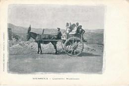 Carte Postale Ancienne Intéressante D'Italie - Messina - Carreto Siciliano - Joli Plan D'attelage Vers 1900 - Enna