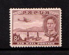 PAPUA    1939    50th  Anniv  Of  British  Possession    8d  Brown  Lake    MH - Papua New Guinea