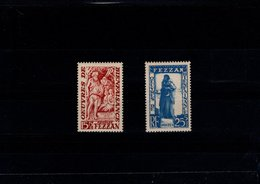Fezzan N° 54 à 55 Série De 2 Timbres Neufs** - Fezzan (1943-1951)