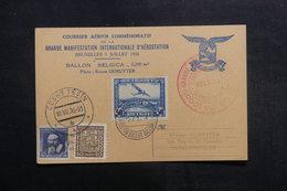 """BELGIQUE - Carte Par Ballon """" Belgica """" En 1936, Affranchissements Et Cachets Plaisants - L 40192 - Cartas"""