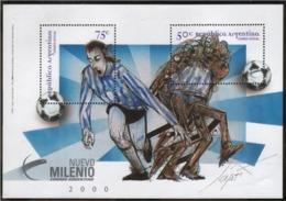 Argentina - 1999 - Futbol - Hojas Bloque