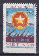 Vietnam Portofreiheitsmarke 1967 Mi. 13   - (xu) Für Die Streitkräfte Wappen Der Volksarmee Von Nordvietnam - Vietnam