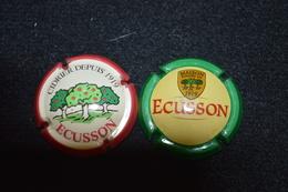 Lot De 2 Capsules ECUSSON - Capsules & Plaques De Muselet