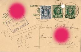 COURCELLES MOTTE 1926 G. HANAPPE Carte Correspondance Achat De Rhum - Courcelles