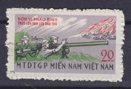 Vietnam Vietcong 1968 Mi. 20   20 (xu) Befreiungsfront Rückstossfreies Geschütz - Vietnam