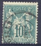 [42677]SUP//O/Used-c:20e-N° 65, 10c Vert, Très Frais - 1876-1878 Sage (Type I)