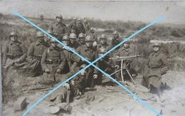 Photo ABL 20's MITRAILLEUSE Machinegeweer Elsenborn Infanterie Belgische Leger Militaria Armée Belge - Guerre, Militaire