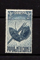 PAPUA  NEW  GUINEA    1952    2/-  Indigo    MNH - Papua New Guinea