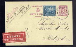 CP 192 II + 430 (Poortman) En Exprès ( étiquette Bilingue) Aalst 2 X 1940 Vers Kortrijk - Postwaardestukken