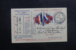 BELGIQUE - Carte FM Pour Criel Sur Mer ( France ) En 1918 - L 40202 - WW I