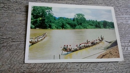 Laos Luang Prabang Course De Pirogues Sur La Nam Khane Photo Bouton - Laos