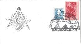 J) 2006 UNITED STATES, MASONIC GRAND LODGE, HAPPY 30th BIRTHDAY STATION JANUARY BENJAMIN FRANKLIN 250th ANNIVERSARY, FDC - United States
